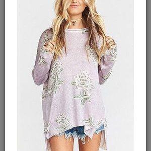 Show Me Your Mumu Sweater Liv Lov Lav